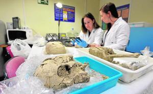 Laboratorios de cinco provincias y de Londres hacen la 'autopsia' a los restos del arrabal
