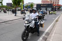 Manifestación contra los guardarraíles en Murcia