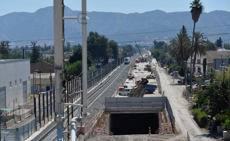 Continúan las obras del soterramiento del AVE en Murcia