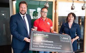 La Asociación Ancebaem contra el acoso escolar recibe el cheque Warm Up valorado en 1.300 euros