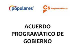 Consulta el acuerdo programático de Gobierno entre PP y Cs