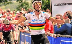 Valverde vuelve con victoria, tras su caída, en la Ruta de Occitania