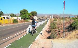 Turismo culmina la senda que une la vía verde con el casco urbano de Mazarrón