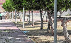 A los parques de barrio, ni flores