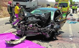 Un motorista fallecido y dos heridos en tres accidentes de tráfico en vías regionales