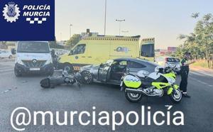 Herido grave un motorista en un accidente de tráfico en Murcia