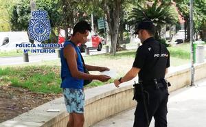 Detenido tras robar con un arma blanca en las inmediaciones de la plaza de Verónicas