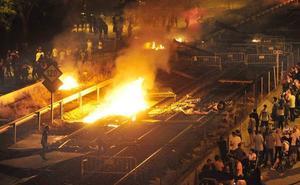 El fiscal pide 24 años de prisión a tres acusados de incendiar las obras del AVE en 2017