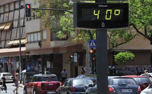 Murcia bate el récord de temperatura en España este lunes