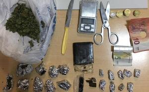 Desmantelan un punto de venta de droga en Puerto Lumbreras