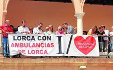Pancarta de apoyo a Ambulancias de Lorca