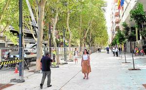 La avenida Alfonso X aumenta su área peatonal en 3.500 metros cuadrados