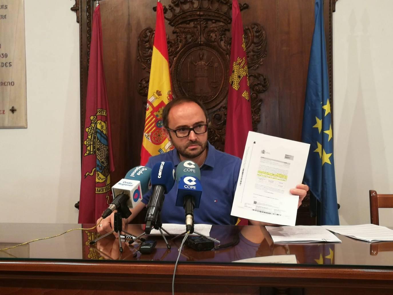 Hacienda pide al Ayuntamiento de Lorca que declare no disponibles 10,5 millones de su presupuesto