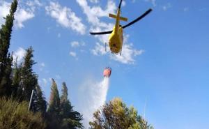 Extinguen un conato de incendio en el paraje de Canadillo, en Cieza