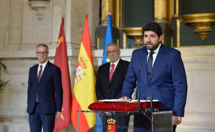 López Miras rechaza en su estreno la autosuficiencia para la cuenca por la que aboga Sánchez