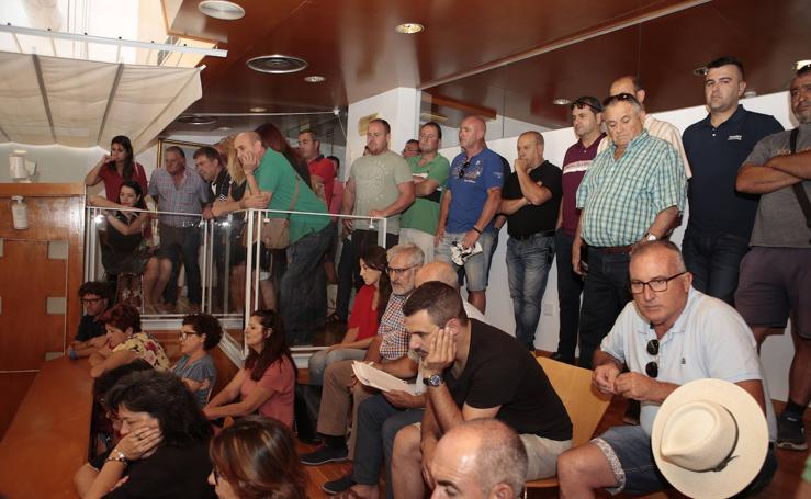Unos 200 ganaderos de Lorca llevan sus protestas al Pleno