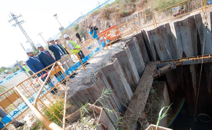 José Ballesta y José Ramón Díez de Revenga visitan las obras de los desvíos de redes de agua del soterramiento del AVE