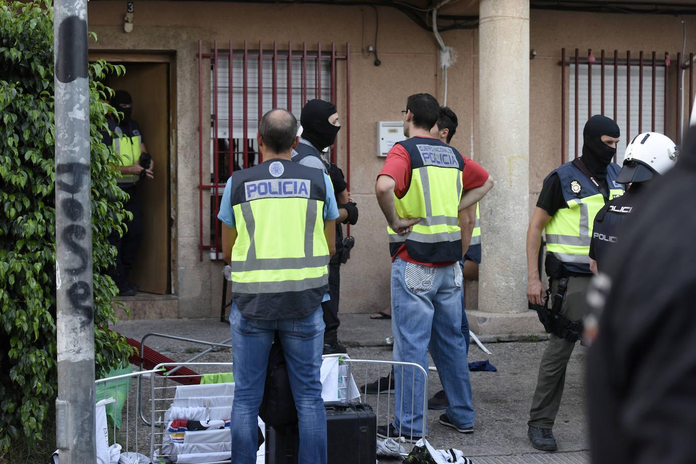 Redada contra el narcotráfico en el barrio Espíritu Santo de Murcia