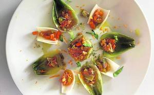 Alcachofa y cebolletas