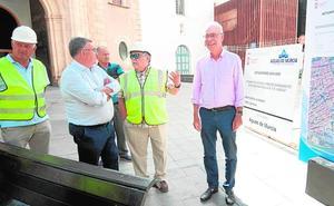 La plaza de Santa Eulalia contará en dos semanas con nueva red de saneamiento