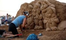 Hacer arte de una montaña de arena