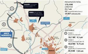 Fomento adjudica por 40 millones las obras del tramo intermedio del Arco Noroeste