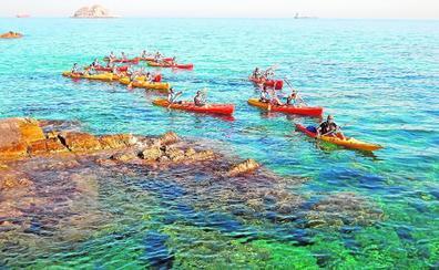 Costa virgen a kayak y pala