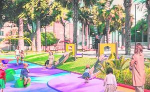 El palmeral de La Paz se convertirá en una gran plaza con pérgola y juegos infantiles