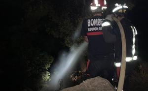 Encuentran pastillas de encendido rápido en la zona de un incendio declarado en Cieza