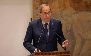 Torra aboga por que el independentismo recupere la «confrontación» con el Estado