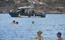 Los arqueólogos comienzan los trabajos en el barco fenicio de Mazarrón