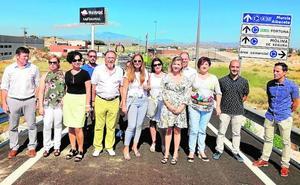La apertura del vial de Las Salinas mejora la conexión de Altorreal con la autovía