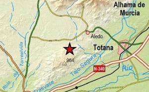 Registrado un pequeño terremoto entre Aledo y Totana