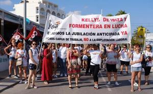 Huelga de las 'kellys' de Ibiza y Formentera por la sobrecarga de trabajo