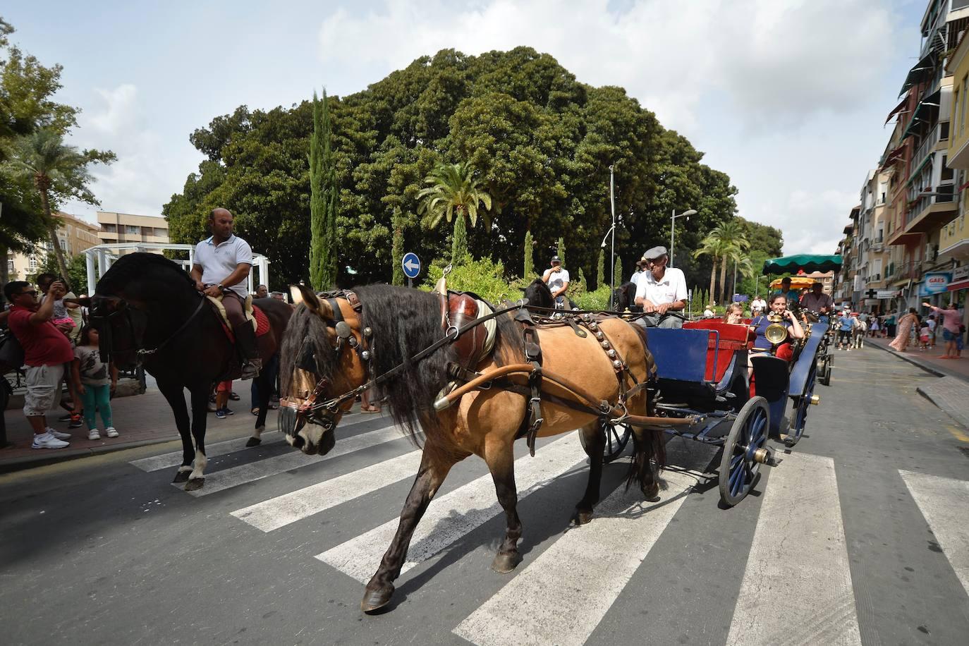 300 personas participan en el Día del Caballo de la Feria de Murcia