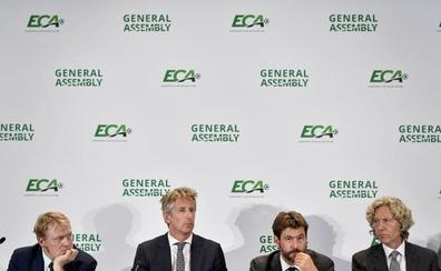 Agnelli, reelegido presidente de la ECA, y Gil Marín, en el Ejecutivo