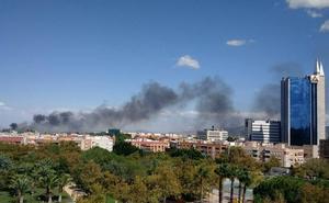 Los bomberos extinguen un incendio de matorrales en Puente Tocinos