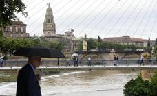 Las lluvias desbordan ramblas e inundan vías del municipio de Murcia