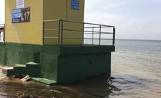 El Mar Menor sufre una notable crecida tras las intensas lluvias