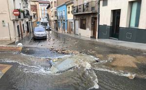 Daños materiales, dificultad para circular y cierre de varios locales en Jumilla por las inundaciones