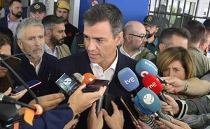 Pedro Sánchez ve «factible» declarar las áreas afectadas como zona catastrófica