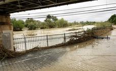 El río Segura se desborda a su paso por Archena