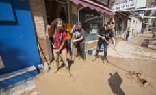 Trabajos de limpieza en Los Alcázares tras las lluvias