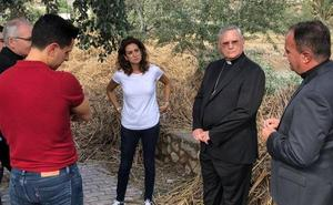El obispo visita las zonas afectadas por las inundaciones