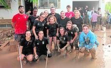 Canteranos albinegros, voluntarios en Los Alcázares