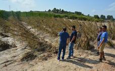 Destrozos causados por las lluvias torrenciales en Cieza