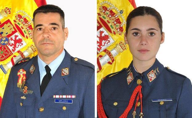 El comandante Daniel Melero y la alférez Rosa María Almirón.