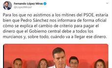 Miras afea a Sánchez que anuncie las actualizaciones de las entregas a cuenta a las comunidades en un mitin