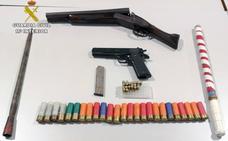 Un detenido en Cieza por tenencia ilícita de armas y cultivar marihuana