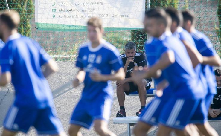 Entrenamiento del FC Cartagena en Barrio Peral